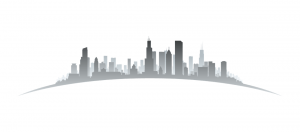 A simplified artistic representation of the Chicago skyline