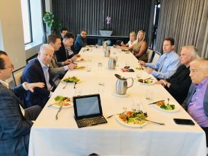 A Tenant Advisory Group luncheon of about 12 attendees
