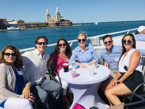 Tenant Advisory Group team together at an outing at Navy Pier