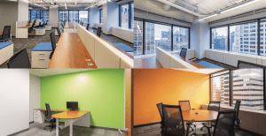 30 N LaSalle Sublease composite picture of different office spaces