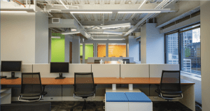 30 N LaSalle Sublease office space with empty desks