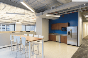 30 N LaSalle Sublease kitchen and common area