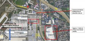 A Google Maps screenshot of O'Hare International Airport