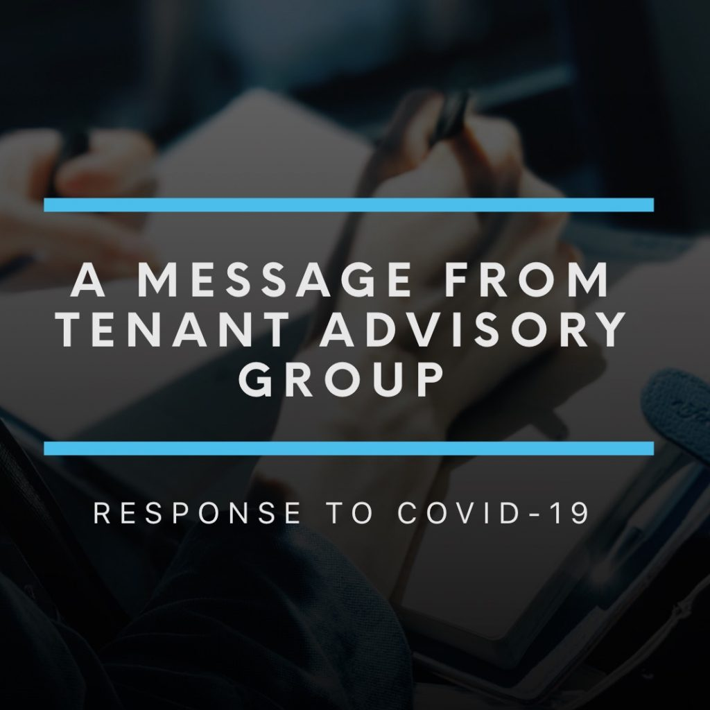 """A message from Tenant Advisory Group – Response To COVID-19"""