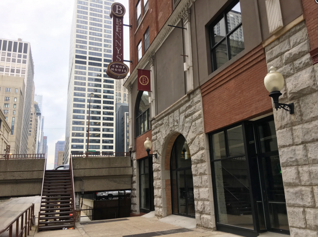 The building exterior at 25-27 E Illinois, Chicago