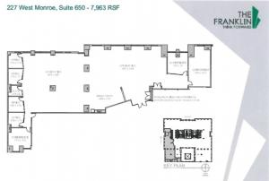 An office space floor plan