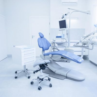 An dental clinical space, empty and unused