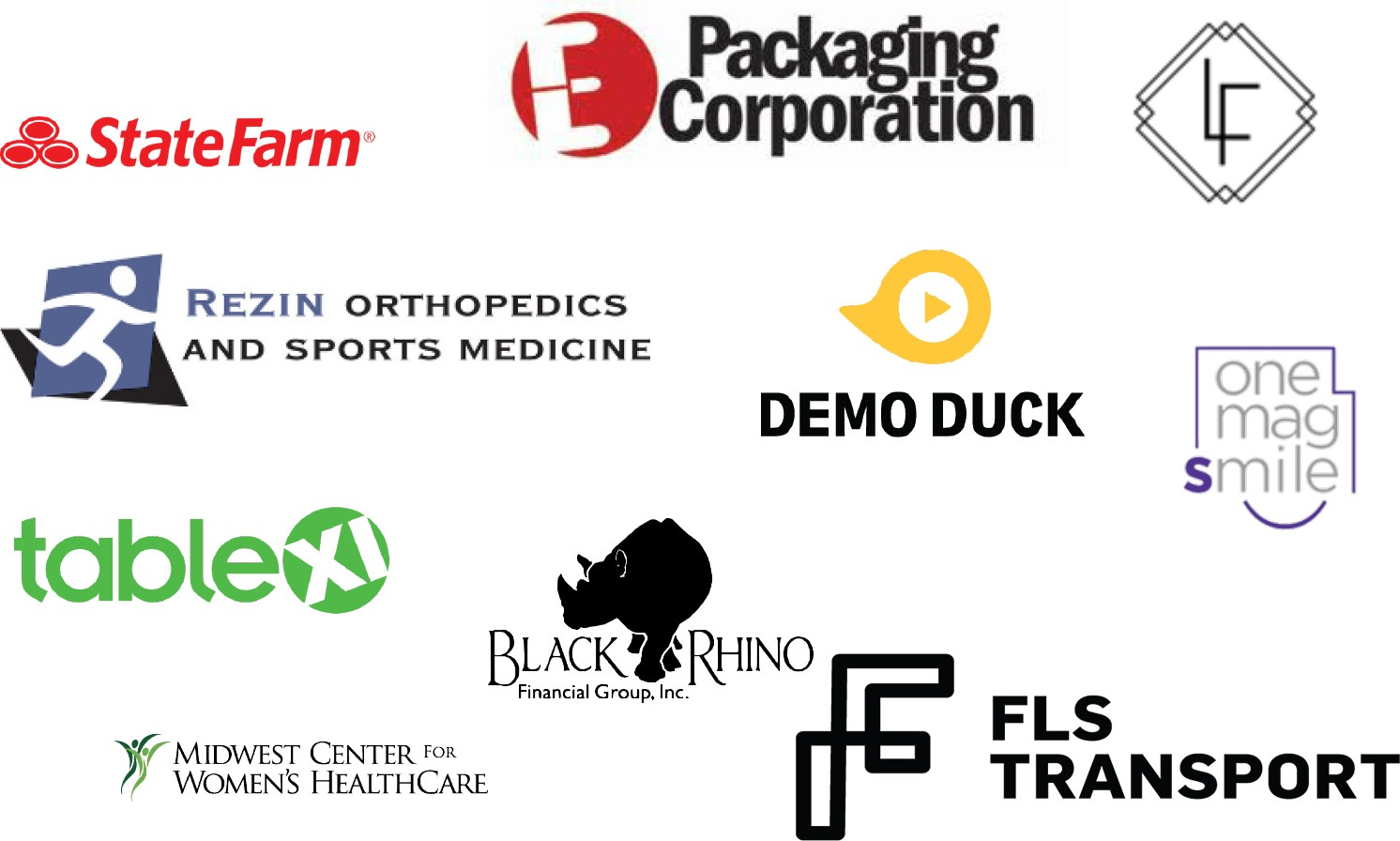 A collection of logos that represent a mix of clients from different industries that TAG serves