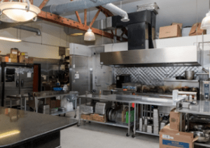 kitchen/work space at 452 North Sangamon