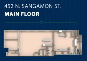 Main floor plan at 452 North Sangamon